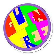 gluten free Round Car Magnet