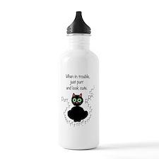 when_in_trouble_200 Water Bottle