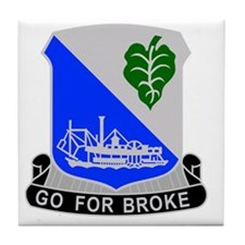 442 Infantry Regiment Tile Coaster