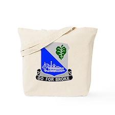 442 Infantry Regiment Tote Bag