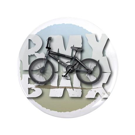 "BMX GRAPHITE CIRCLE 3.5"" Button"