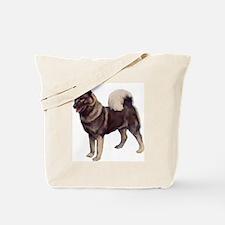 norwegian elkhound standing Tote Bag