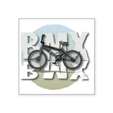 "BMX GRAPHITE CIRCLE Square Sticker 3"" x 3"""