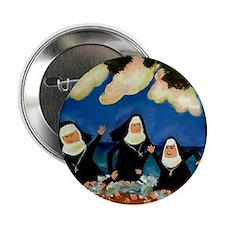 "funny nuns catch a wave ornament 2.25"" Button"