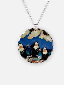 funny nuns catch a wave orna Necklace