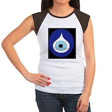 black evil eye Women's Cap Sleeve T-Shirt