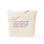 I Love You Etc Tote Bag
