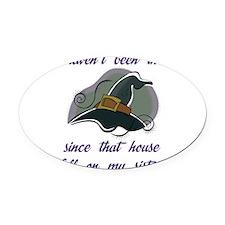 house-112011 Oval Car Magnet