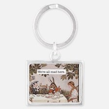 Alice We Are All Mad Here Landscape Keychain
