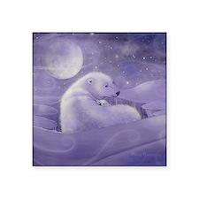 """gentle winter square Square Sticker 3"""" x 3"""""""