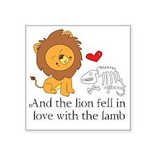 "Lionbones Square Sticker 3"" x 3"""