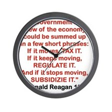 GOVRNMENTS VIEW OF THE ECONOMY Wall Clock