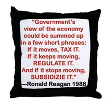 GOVRNMENTS VIEW OF THE ECONOMY Throw Pillow