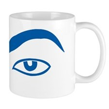 brow_only_blue Small Mug