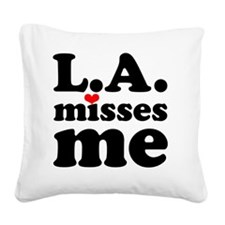 LAMM-bck-red Square Canvas Pillow