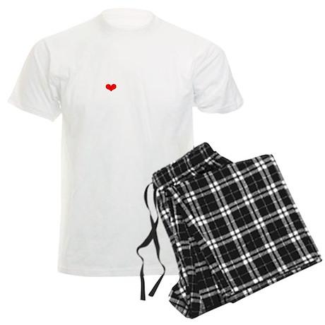 LAMM-wht-red Men's Light Pajamas