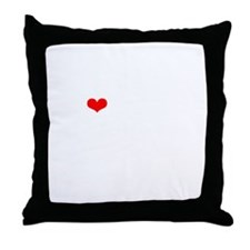 LAMM-wht-red Throw Pillow