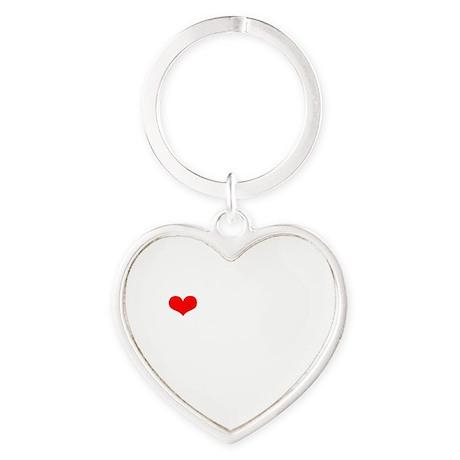 LAMM-wht-red Heart Keychain