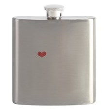 LAMM-wht-red Flask