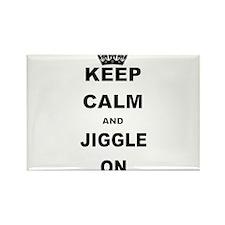 KEEP CALM AND JIGGLE ON Magnets