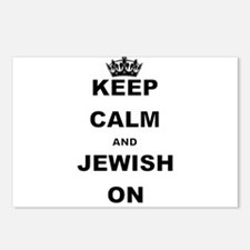 KEEP CALM AND JEWISH ON Postcards (Package of 8)