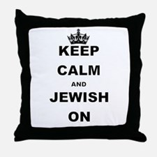 KEEP CALM AND JEWISH ON Throw Pillow