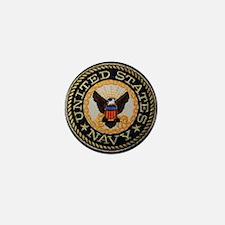 navy Mini Button