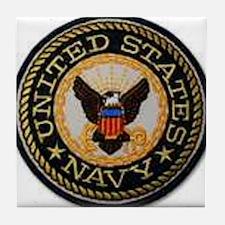 navy Tile Coaster