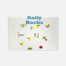 Rally 3 Rectangle Magnet