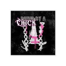 "ChickGamer Square Sticker 3"" x 3"""