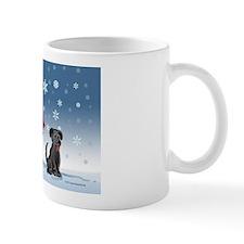 snowmanblacklab card Mug