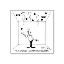 "6631_juggling_cartoon Square Sticker 3"" x 3"""