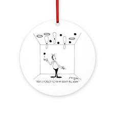 6631_juggling_cartoon Round Ornament