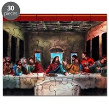 5x7 Card Lords Supper Front Puzzle
