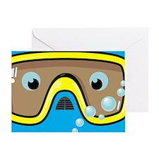 goggle_mpad_blue_N Greeting Card