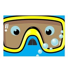 goggle_mpad_blue_N Postcards (Package of 8)