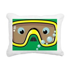 goggle_mpad_green_N Rectangular Canvas Pillow