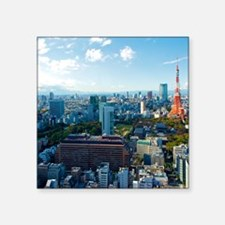 "Tokyo Tower Square Sticker 3"" x 3"""