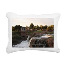 FallsSunrise_gcf Rectangular Canvas Pillow