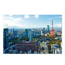 Tokyo Tower Landscape Postcards (Package of 8)