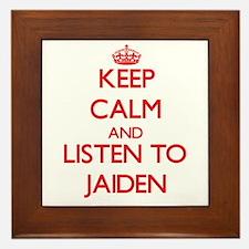 Keep Calm and listen to Jaiden Framed Tile