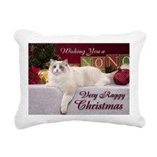 Linden Christmas Card Rectangular Canvas Pillow