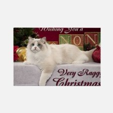 Linden Christmas Card Rectangle Magnet
