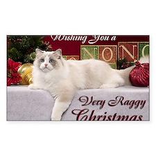Linden Christmas Card Decal
