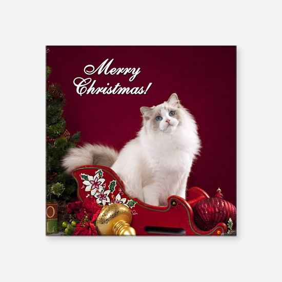 "Linden Merry Christmas Tile Square Sticker 3"" x 3"""