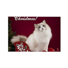Linden Merry Christmas Tile Coast Rectangle Magnet