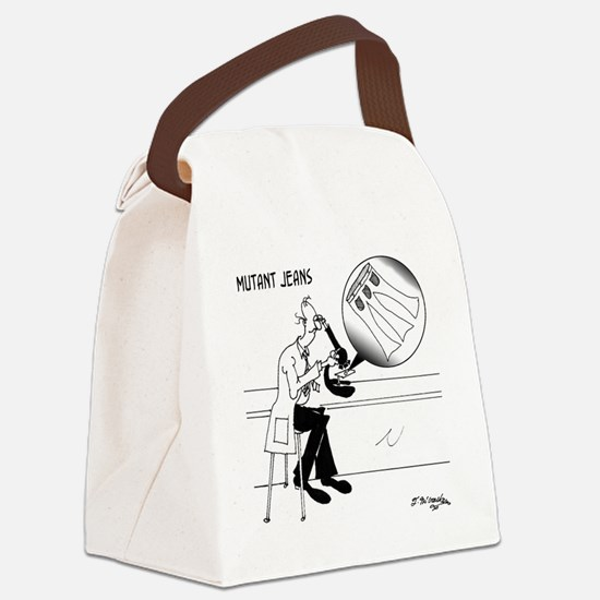 1031_biology_cartoon Canvas Lunch Bag