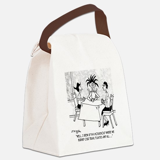 8397_pollution_cartoon Canvas Lunch Bag