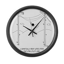 6177_spider_cartoon Large Wall Clock