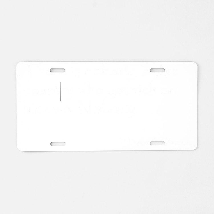 WarrenQuoteDrk_10x10 Aluminum License Plate